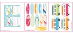surf party download printable pdfs