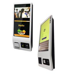 Restaurant ordering kiosk POS machine from iDesign Digital Kiosk, Digital Signage, Free Cell Phone, Newest Cell Phones, Kiosk Design, Web Design, Digital Menu Boards, Cell Phone Service, Ticket Design