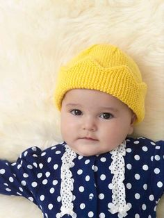 Knitting Patterns for Baby Lion brand Baby Crown Hat in Lion Brand Modern Baby - Digital Version | New ...
