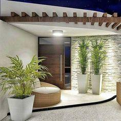 Modern House Design 709246641305293319 - House exterior design 832884524825503958 Source by Entrance Design, House Entrance, Door Design, Exterior Design, Interior Exterior, Entrance Decor, Entrance Ideas, Modern Entrance, Interior Ideas