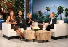 "Today, the cast of ""One Big Happy,"" including Elisha Cuthbert, Nick Zano and Kelly Brook, joins ""The Ellen DeGeneres Show"" on the day the NBC sitcom premieres (9:30 p.m.). Kelly reveals that she first met Ellen when she was completely naked! Elisha Cuthbert addresses a question she often gets asked, which is ""what is it like to play a lesbian?"" Plus, since Kelly has kissed both Elisha and Nick for the sitcom she reveals who is the better kisser – and her answer may surprise you!"