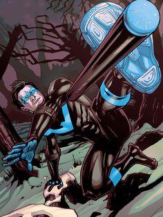 Dick Grayson in Justice League Catwoman, Comic Books Art, Comic Art, Nightwing Wallpaper, Harley Quinn, Nightwing And Starfire, Richard Grayson, Batman Artwork, Detective Comics