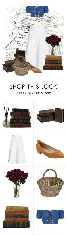 """""""Beauty and the Beast - Belle Inspired"""" by gabby23-2 ❤ liked on Polyvore featuring IMAX Corporation, Victoria Beckham, G.H. Bass & Co., Garden Trading, disney, BeautyandtheBeast and polyvorefashion"""