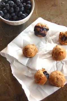 Whole Wheat Blueberry Mini Muffins
