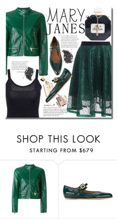 """""""Sweet Mary Janes"""" by beebeely-look ❤ liked on Polyvore featuring Dolce&Gabbana, Marni, MAC Cosmetics, chic, leatherjacket, edgy, maryjanes and sammydress"""