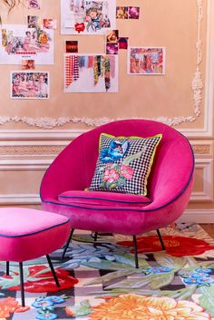 Henry Holland for Habitat pink chair