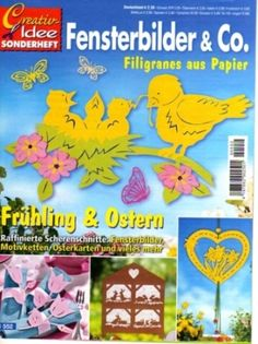 Creativ Idee - Fensterbilder & Co. Free Magazines, Magazines For Kids, Kirigami, Crafts For Kids, Arts And Crafts, Magazine Crafts, Paper Stars, Book Crafts, Paper Cutting