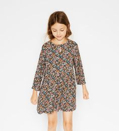 EMBROIDERED FLOWERS DRESS-DRESSES AND JUMPSUITS-Girl-Kids | 4-14 years-KIDS | ZARA United States