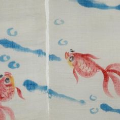 Amazon.com: Japanese Noren, 10KM48, Gold fishes, linen door way curtain?: Home & Kitchen