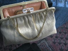 Sparkly VTG Gold ANDE' Purse Handbag Evening Clutch Christmas New Years PROM