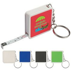 Promotional Measure Tapes: Promotional Square Tape Measure Key Tag