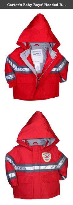 London Fog Baby Fireman Rain Slicker Red 24 Months