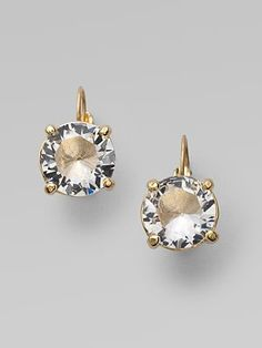 Kate Spade New York Clear Drop Leverback Earrings