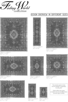 Karpet Vintage Fading Medallion Mineral Black 8263