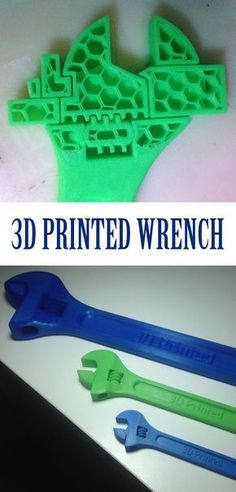 3D printed adjustable wrench.
