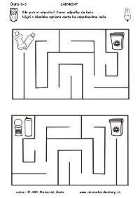 labyrint -kde patria odpadky Earth Day Coloring Pages, Preschool Themes, Pre School, Kindergarten, Crafts For Kids, Recycling, How To Plan, Labyrinths, Science Activities