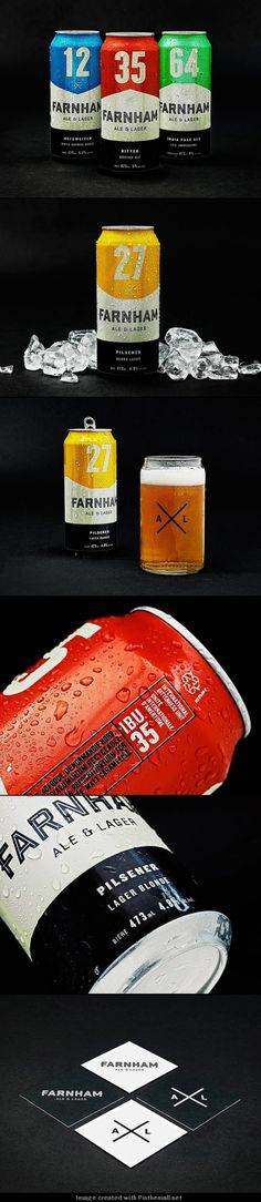 Farnham Ale & Lager Brewery #beer #ale #lager by the numbers #packaging PD