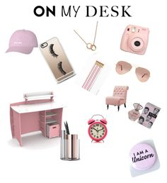"""""""Full on girlie girl look"""" by rudycastaneda-rc on Polyvore featuring Fujifilm, Casetify, Ray-Ban, Legaré, Bling Jewelry, Home Decorators Collection, Beyond Object and onmydesk"""
