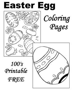 Easter Egg coloring pages!
