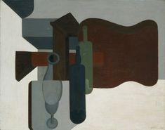 Collection Online | Amédée Ozenfant. Guitar and Bottles (Guitare et bouteilles). 1920 - Guggenheim Museum