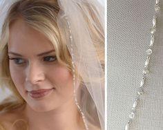 Beaded Bridal Veil Crystal Wedding Veil 1 Layer Veil от USABride