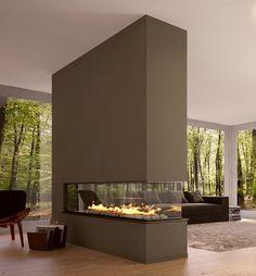 salones con chimeneas modernas - Buscar con Google