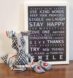 Love this! Happy words & thoughts for a happy home!