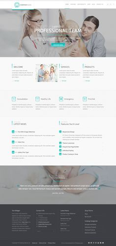 RT-Theme 20 | Corporate Catalog and Medical WordPress Theme is perfect for medical equipment, #veterinary, laboratory, clinics or hospitals website. #Medical #Petclinic #template