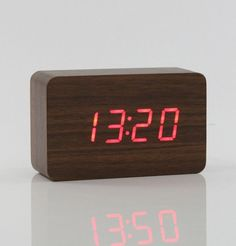 New design Antique office Electronic digital Temperature Sounds Control LED display alarm clock Classic vintage desktop