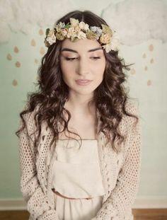 Couronnes de fleurs pour mariée [Photos]