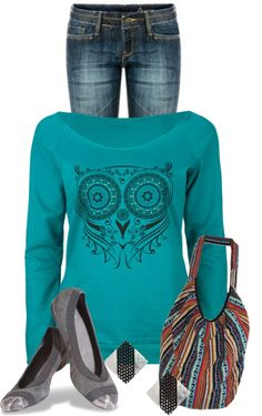 """""""Owl"""" by ljjenness ❤ liked on Polyvore where do I find this sweeter. I love it!"""