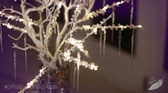 DIY Icicle Branches & Frosted Candle Holders | Ann Le Style