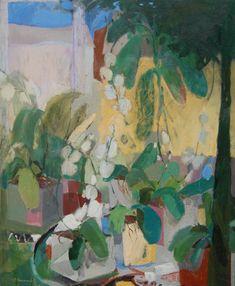 """Tienda de orquídeas nº9"" serie Tienda de orquídeas | Pintura de Carolina Veramendi B | Flecha"
