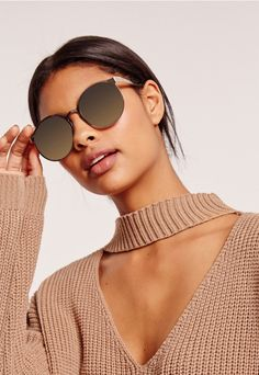 e1337b383a Grab these gold shades and add a touch of cool to your look! Gold Sunglasses
