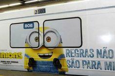 Vagoes do metrô do Rio envelopados com imagens dos Minions – viu isso? - Blue Bus