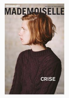 I love the hair and the sweater! //MACIEK POZOGA::Polish model Maria Loks on the cover of the Winter 2012 issue of Technikart Mademoiselle. Love Hair, Great Hair, Messy Hairstyles, Pretty Hairstyles, Teenage Hairstyles, Hair Day, New Hair, Hair Looks, Hair Inspiration
