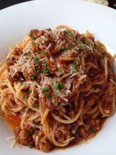 Můj Dnešní Italskej Oběd Špagety Alla Bolognese/My Today's Italian Lunch Spaghetti Alla Bolognese