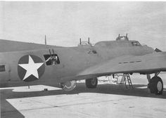 """Boeing YB-17 Flying Fortress gunship.   Converted to act as a heavily armed """"gunship"""" for other bombers during World War II. At the time of its development, long-range fighter aircraft such as the North American P-51 Mustang were just entering quantity production, and thus were not yet available to accompany bombers all the way from England to Germany and back.  It became known as a brilliant mistake."""