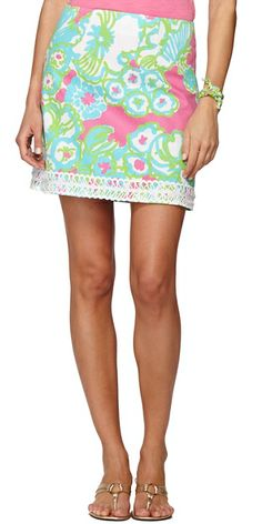 Lilly Pulitzer Lavender Lace Trim Skirt in PB Pink A Delicacy