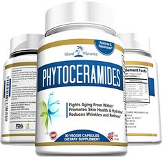 Phytoceramides Skin Care Supplement Plus Vitamins A, C, D & E - Plant Derived Rice Based Anti-Aging Formula Promotes Cellular Skin Hydration, Stimulates Collagen, and Diminishes Fine Lines and Wrinkles - 30 Veggie Capsules, Made in USA Island Vibrance http://www.amazon.com/dp/B00X517H7K/ref=cm_sw_r_pi_dp_Rem5wb0VB91RJ