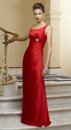 Angelina Faccenda 20369 One Shoulder Long Mori Lee Bridesmaid Dress at frenchnovelty.com