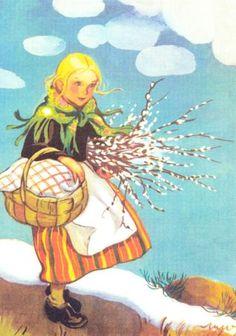 MARTTA WENDELIN -pääsiäiskortti 1