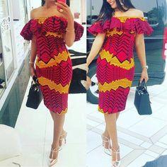 Robe crayon imprimé africain mi-longues robe par CoCoCremeCouturier