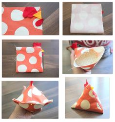 chicken bag - can be used as beanbags for children to play with OR for a doorstop! These chicken bean bags are just about the cutest things that you can make with your sewing machine. Use them as pin cushions, bean bags or even rice packs! Kids Crafts, Easter Crafts, Diy And Crafts, Craft Projects, Sewing Projects, Kids Diy, Craft Patterns, Sewing Patterns, Fabric Crafts