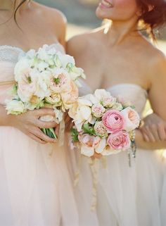 Sample bouquets design: Loose unstructured style  Colouring: Bridal (Soft cream + White + Antique Taupe + silver) and bridesmaids (Same as bride with a touch of soft blush and not as much white).