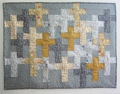 """= free pattern = Faith Crosses quilt, 36 x 28"""", by Sally Keller at Windham Fabrics"""