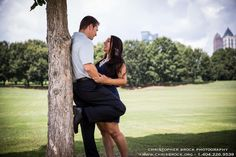 Piedmont Park Engagement shoot by Christopher Brock