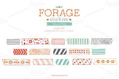 Forage Stickies (Vector) by Small Made Goods on Creative Market