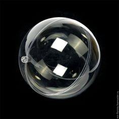 Купить 12 см. Шар пластиковый прозрачный заготовка - белый, шар, шар пластиковый