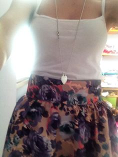 This is my fashion skirt with Tiffany's necklace!